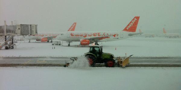 Aéroport de Roissy sous la neige