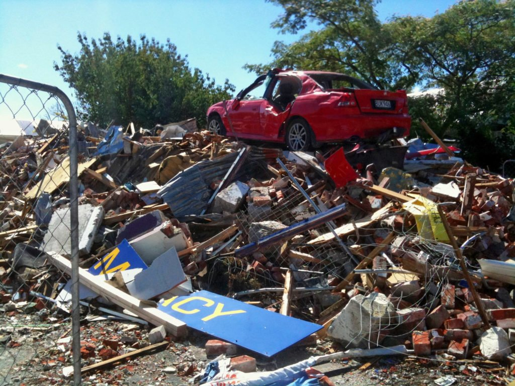 Christchurch, après le tremblement de terre de 2011