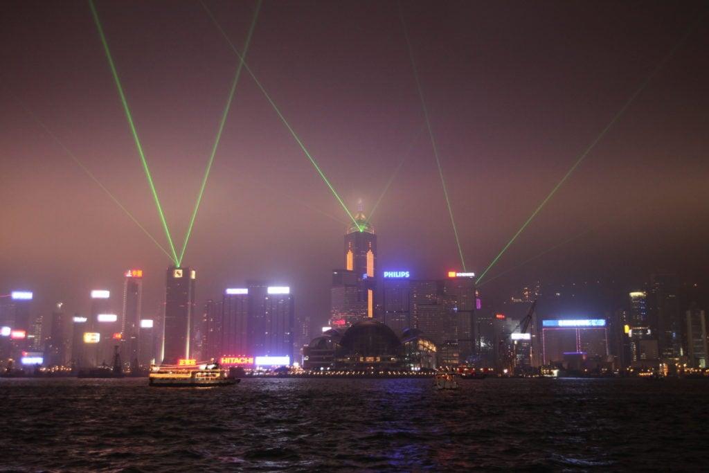 Symphonie de lumières à Hong Kong
